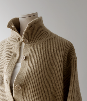high neck wool button knit cd [가디건BDP67] 3color_free size안나앤모드
