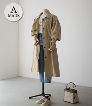 the anna puff trench coat[코트BFW24] 3color_free size안나앤모드