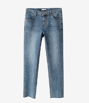 use straight slit denim jean[데님BLZ55] one color_4size안나앤모드