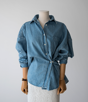 hidden loop denim shirt[셔츠BJD8] one color_free size안나앤모드