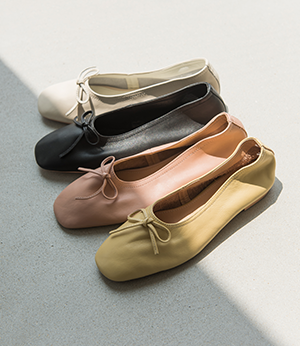 pastel real leather ribbon flat[슈즈BMT71] 4color_5size안나앤모드